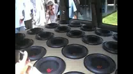 Ridiculous 24 True Bass 10 Speakers A Dodge Caravan