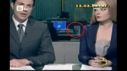 Гавра с Бойко Борисов в Бтв Новините Господари на Ефира 18 02 2010