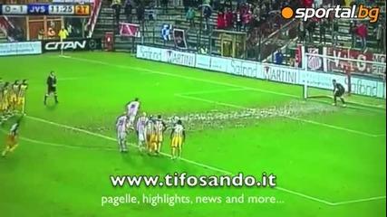 Божинов с първи гол, Виченца - Юве Стабия 1-2