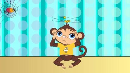 пет маймунки-детска песен с бг.аудио