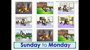 Английски за деца - Песничка за календара