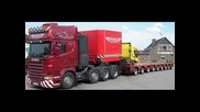 Convoi Exceptionnel With Scania Truck`s