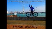 С колело от град Southampton до city Portsmouth - 100км. Англия