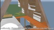 Cube - малки и евтини къщи и бунгала, модел qb-tourist 244х480см, 12 + 5 кв/м с второто ниво