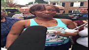 USA: Philando Castile's girlfriend breaks down at protest outside Minnesota governor's mansion