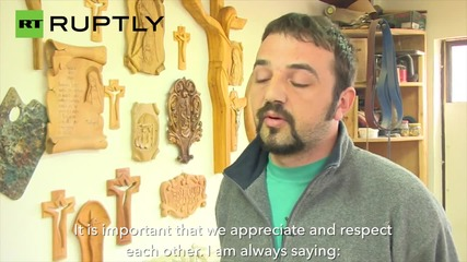 Muslim Carpenter Designing a Chair for Pope Francis