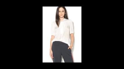 Vero Moda Черна блуза с дизайн 2в1