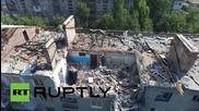 Украйна: Дрон засне разрушенията в Донецк