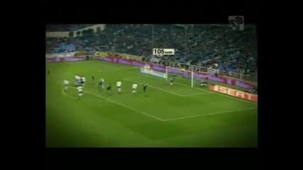 Удара на Cristiano Ronaldo със 105 kmh