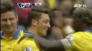 Първата асистенция на Месут Юзил за Арсенал