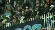 бой в сектор Б на мача Цска 2 - 0 Левски