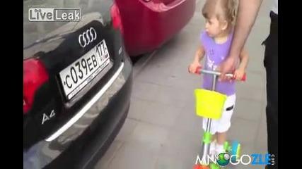 Руско момиченце познава колите