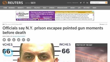 Slain New York Prison Escapee Pulled Shotgun On Officers