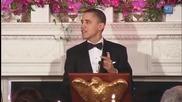 Барак Обама пее -born this way от Lady Gaga