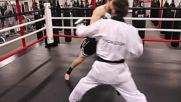 Taekwondo vs Muay Thai Martial Arts Fight Scene Real Contact Hits Fitnes Kingfu Ring Turnuva