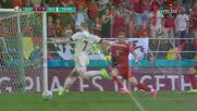 Голът на Кевин Де Бройне срещу Дания