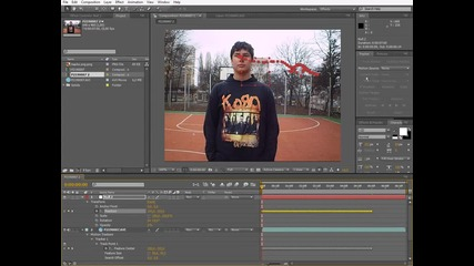 After Effects урок - Motion Tracking (бг аудио)
