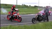 Drift Moto vs Auto [торнадо дъх на бензин...]