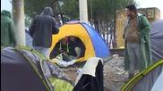 Бежанци протестират срещу ограниченията на достъпа по гръцко-македонската граница