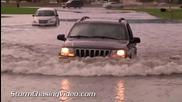Улично наводнение в Сейнт Клауд, Минесота 3.9.2014