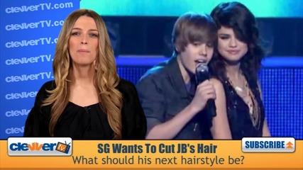 Selena Gomez Wants To Cut Justin Biebers Hair