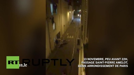 France: Footage released showing moment of attack on Bataclan theatre *GRAPHIC*