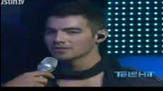 Joe Jonas singing Just In Love, See No More on Telehit Award