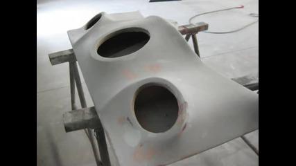 Fiberglaass speaker box building