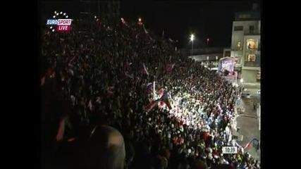 16-о място за българската смесена щафета на Световното по биатлон