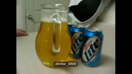 Пиене на бира за 5 секунди