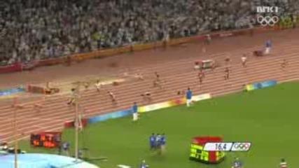 Пекин - Световен Рекорд На 4x100m Мъже
