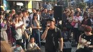 150509 Daehyun @ Guerilla Street Concert in Sinchon - Show girl