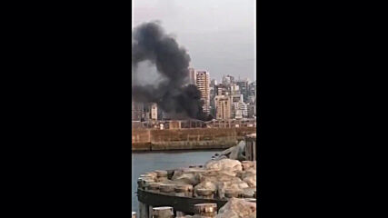 Lebanon: Dark smoke seen billowing from Beirut port following explosions