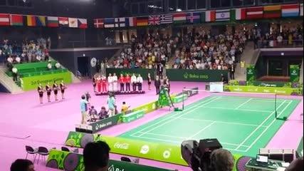 Българският химн звуча гордо в Баку!
