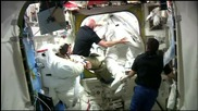 Кадри от прибирането на астронавтите в МКС