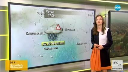 Прогноза за времето (13.11.2019 - сутрешна)