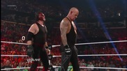 The Undertaker Returns and Helps Kane - Wwe Raw 7_23_12 (raw 1000)