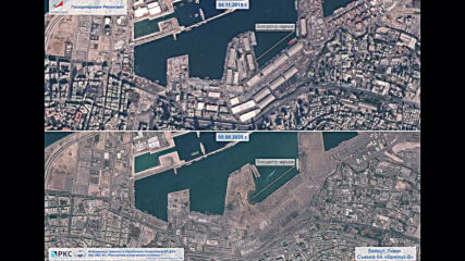 Space: Before-and-after Russian satellite images highlight devastation in Beirut