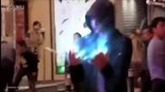 Телепортация на хора заснета от улични камери