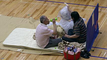 Japan: Yatsushiro gymnasium turned shelter for flood evacuees