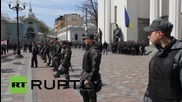 Ukraine: Miners stake out at Verkhovna Rada as protest enters third day