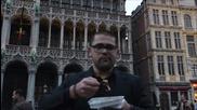 Как се ядат белгийски вафли в Брюксел