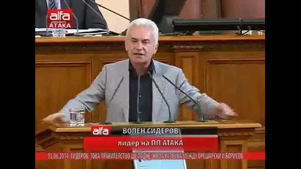 Реч на Волен Сидеров по време на вота - Не ми се правете на герои, мушмороци такива - 13.06.2014г.