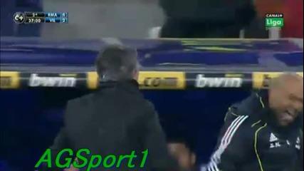 Моуриньо подлудява скамейката на Виляреал!