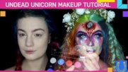 Best costume makeup! Dead unicorns are among us