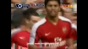 Арсенал - Уигън 4:0 Първи гол на Вермаелен