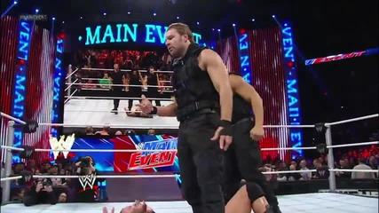 Wwe Main Event 1.16.13 Randy Orton срещу Antonio Cesaro ( Щитът пребиват Orton и The Miz) vs