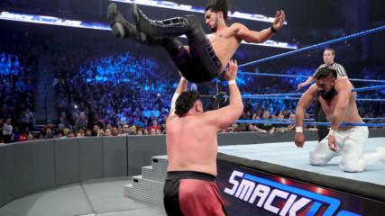 """Rey Mysterio & Mustafa Ali vs. Samoa Joe & Andrade """"Cien"""" Almas: SmackDown LIVE, 8 January, 2019"""