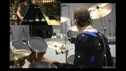 Lars Ulrich Записва за Guitar Hero