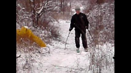 purvi opit na ski :d:d